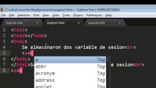 Sesiones en PHP | Uso de Sesiones en PHP | Ejemplos de Sesiones en PHP | FACILITO PHP 20-PARTE 1
