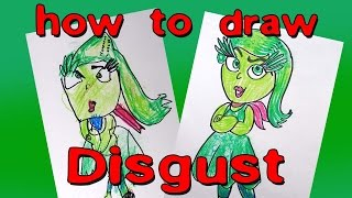 How to draw disgust from inside out tutorials and online canvas