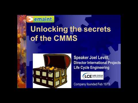 Best Practices Webinar: Maximizing the Benefit from Your CMMS