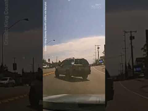 ROAD RAGE   U.S. man throws hammer through driver's windshield! #shorts