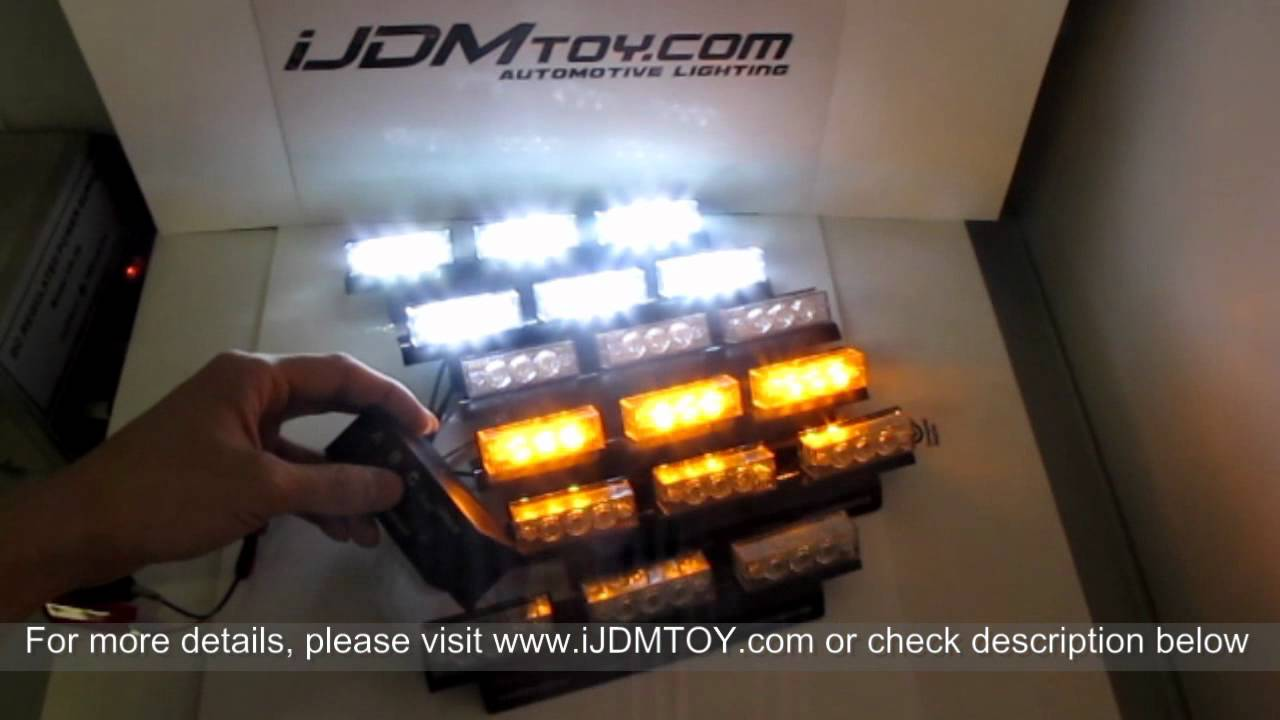 Vehicle Strobe Lights >> Super Bright 54 Led Emergency Vehicle Strobe Lights Amber White