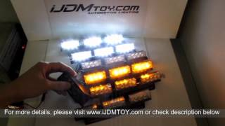 Super Bright 54-LED Emergency Vehicle Strobe Lights (Amber/White)
