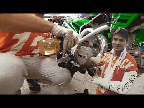 Залили ПОДСОЛНЕЧНОЕ масло в мотоцикл / СЛОМАЛ руку на съёмках