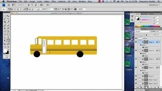 How to Draw a Bus in Photoshop : Photoshop Tutorials
