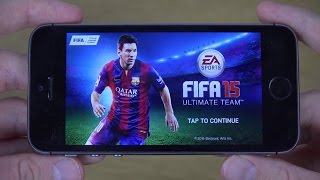 FIFA 15 iPhone 5S iOS 8 4K Gameplay Review