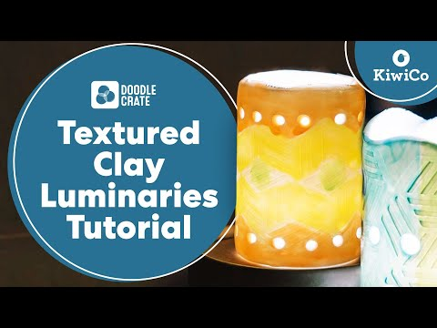 Clay Luminaries Tutorial - Doodle Crate Project
