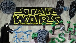 Star Wars in 50,000 dominoes