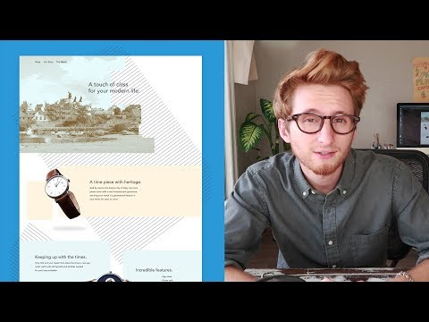 How to design a modern landing page - Design Time 12