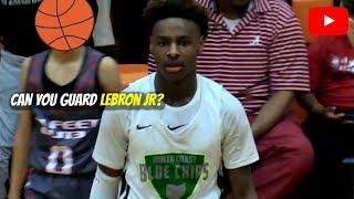 LeBron James Jr is a FUTURE STAR in The NBA! North Coast Blue Chips thumbnail