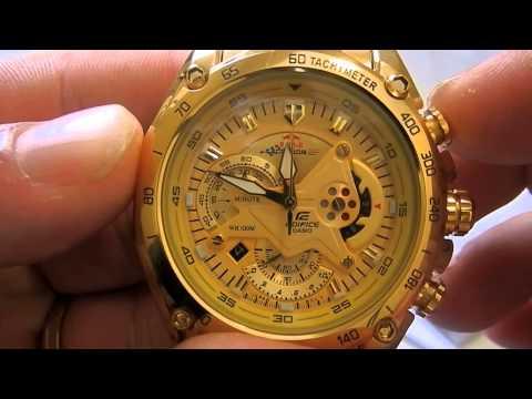 794c9754ed4 Repeat Relógio Casio Edifice Ef-550fg-9av Original Dourado by ...