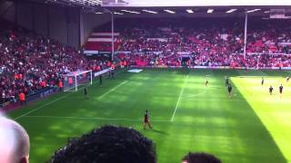 Liverpool v Valencia 2011 - warm up practice