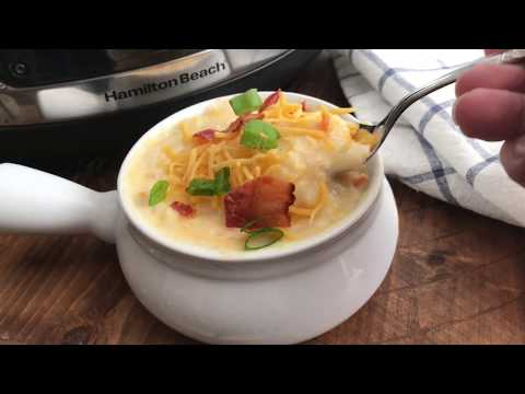 How To Make Loaded Crockpot Hash Brown Potato Soup