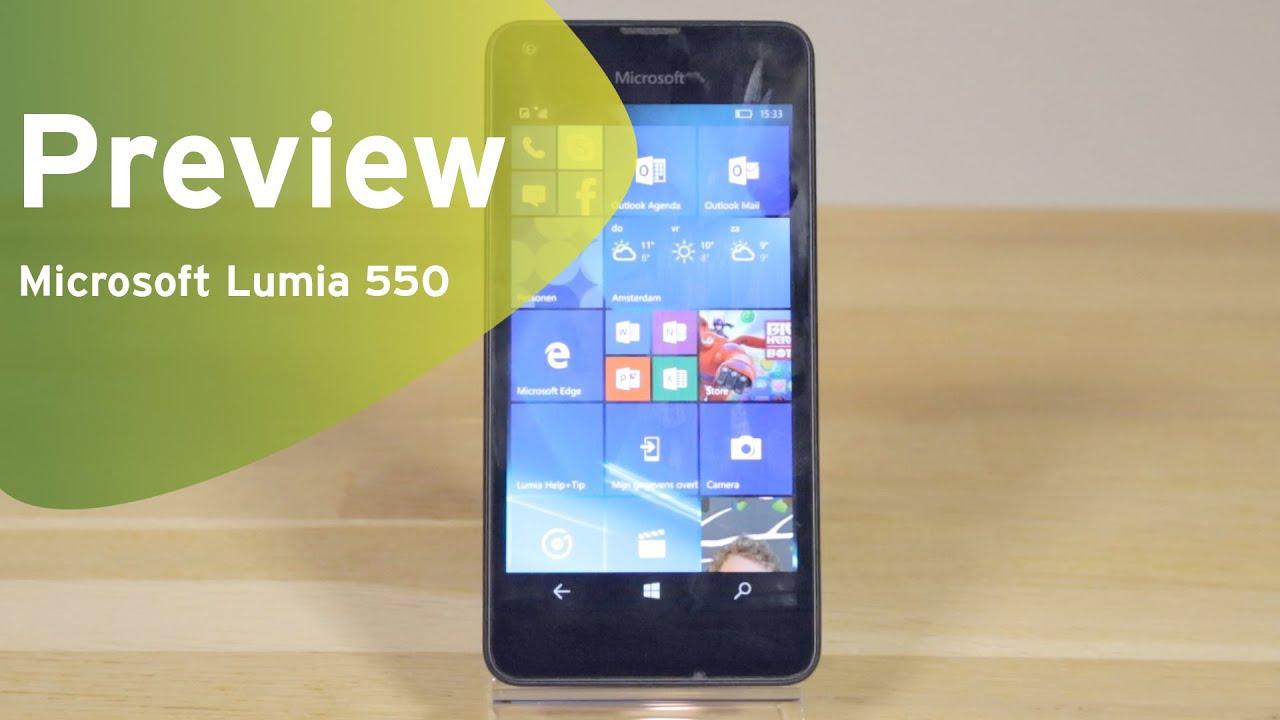7a71112d46e110 Microsoft Lumia 550 preview (Dutch) - YouTube