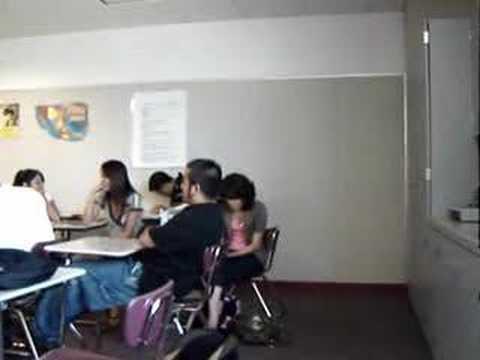 Laura Singing in Arias' class