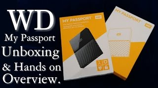 WD My Passport Portable External Hard Drive Unboxing And Hands With Mobile Attach check 2017.[Hindi]