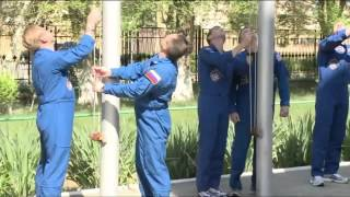 ISS Expedition Crews 40 and 41 Practice for Space Launch in Baikonur, Kazakhstan
