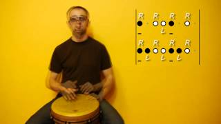 01. Basic 4/4 rhythms for Djembe / Cajón