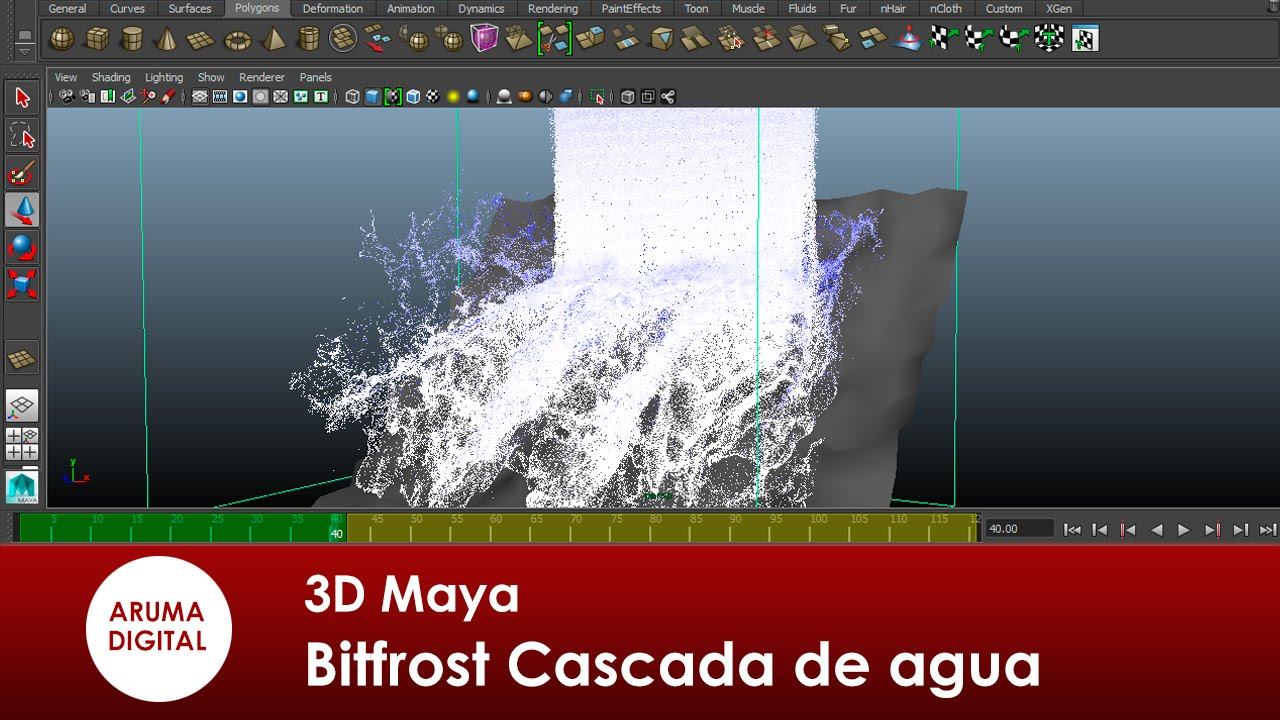 3D Maya 206 Dinamicas Bifrost Cascada de agua  YouTube