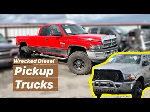 Wrecked Diesel Trucks At Insurance Auto Auction iaai
