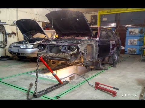 Рихтовка кузова ВАЗ 2115 после ДТП