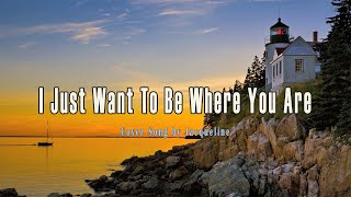 I Just Want To Be Where You Are - Don Moen (Cover) with Lyrics