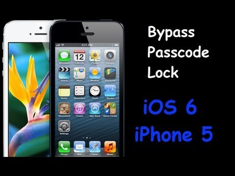 iphone passcode bypass bypass ios 6 and iphone 5 passcode lock 8625