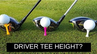 Whats the correct tee height for your driver? When teeing off with ...