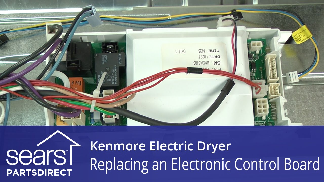 How to Replace a Kenmore Electric Dryer Electronic Control Board  YouTube
