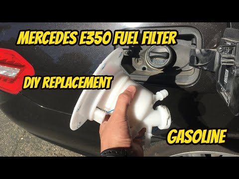 Mercedes E350 W212 Fuel Filter change and replacement DIY mostly Step by Step. GASOLINE e350!