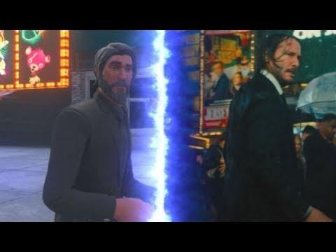 John Wick 3 Fortnite Trailer Comparison