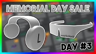 WORKCLOCKS ARE OUT! ROBLOX MEMORIAL DAY SALE 2019 REVIEW | DAY THREE