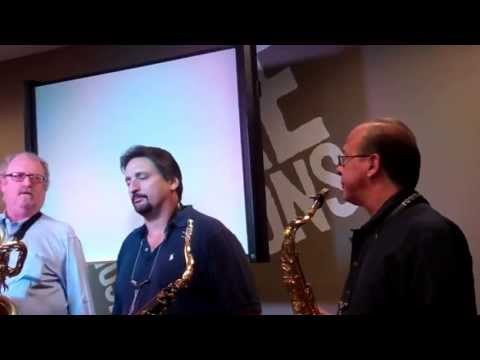 TOWER OF POWER HORNS AT MUSIC AND ARTS IN BALTIMORE MD 4-30-13