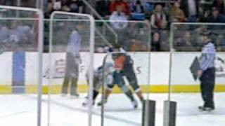 Wenatchee Wild v. Fairbanks Icedogs Fight