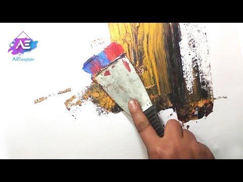 Abstract landscape Painting demonstration-Art explain