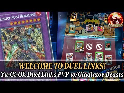 WELCOME TO DUEL LINKS! Yu-Gi-Oh Duel Links PVP w/Gladiator Beasts