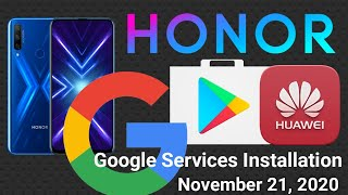 Honor 9X Pro GMS INSTALL I GOOGLE INSTALL I HUAWEI GOOGLE PLAY SERVICES INSTALLATION