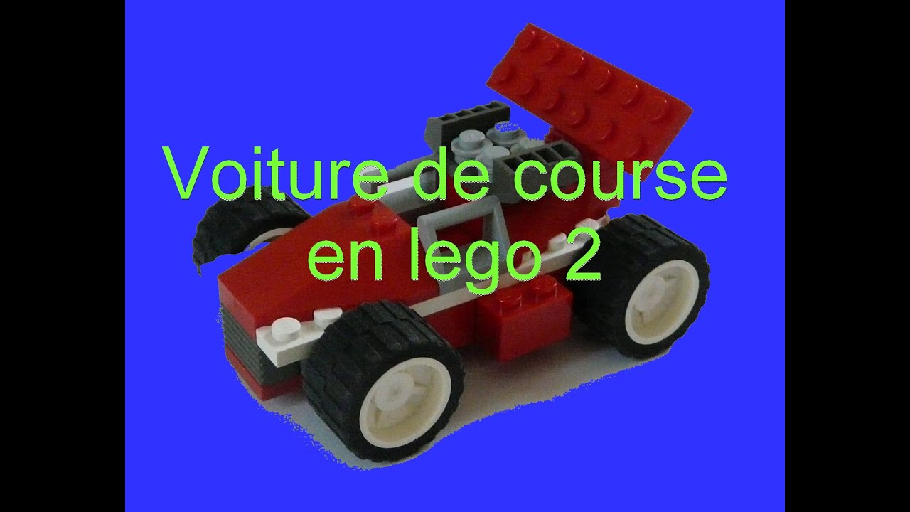 comment faire une voiture de course en lego 2 youtube. Black Bedroom Furniture Sets. Home Design Ideas