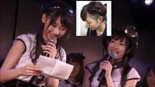 公約通りAKB48シアターから生放送のまゆゆのANNに登場した、ゆきりん、...
