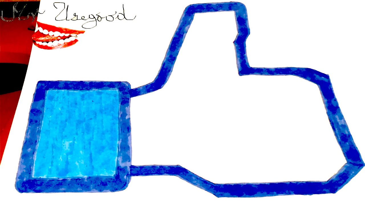 How to draw thumbs up facebook like logo easy and color for Cool things to draw kids