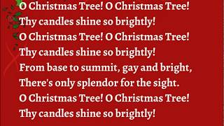 O Christmas Tree with Lyrics