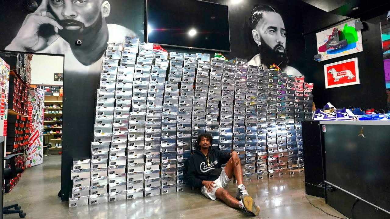 BUYING $500,000 WORTH OF SNEAKERS FROM A MILLIONAIRE!!!!