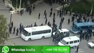 Gəncədə dindarlarla polis arasında qarşıdurma - [video]