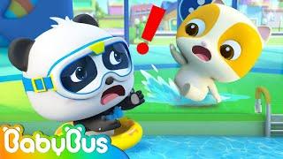 Play Safety in Swimming Pool   Good Habits for Kids   Nursery Rhymes & Kids Songs   BabyBus