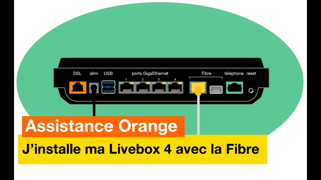 Assistance orange j 39 installe ma livebox 4 avec la fibre orange youtube - Comment installer la fibre ...