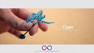 видео 3D ручка CreoPop с холодными чернилами