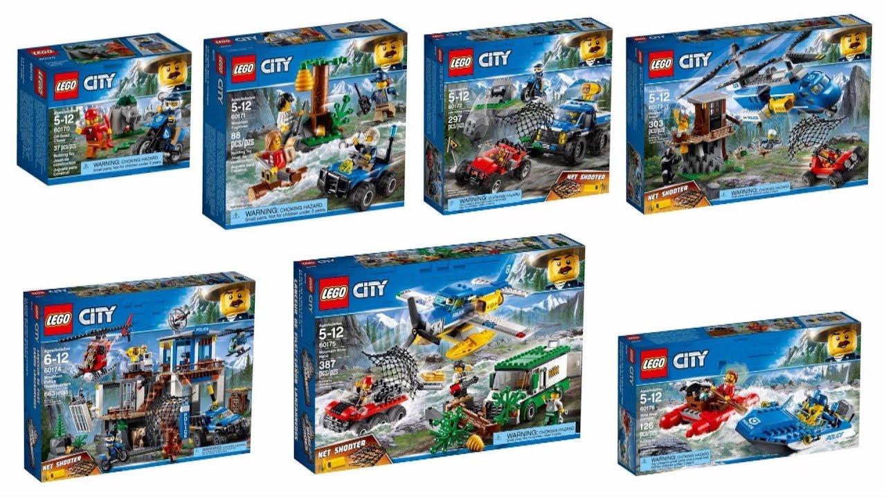 Nowości Styczeń 2018 Lego City Policja Górska Youtube