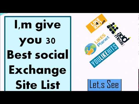 "Top 30 ""Social Exchange Site""