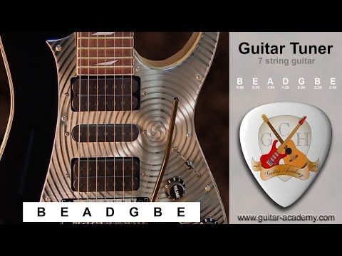 7 string guitar tuner - tune your 7 string guitar B E A D G B E