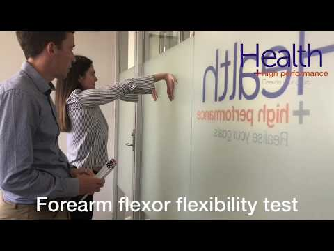 Forearm flexibility test for elbow & wrist pain | Melbourne Sports Chiropractor