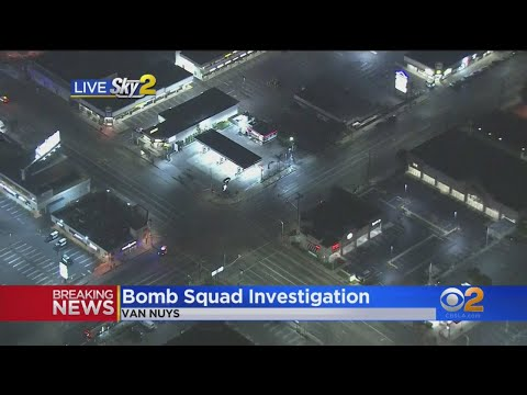 Van Nuys Intersection Closed, Businesses Evacuated For Suspicious Vehicle
